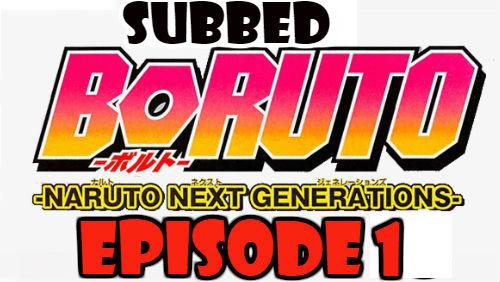 Boruto Episode 1 Subbed English Free Online