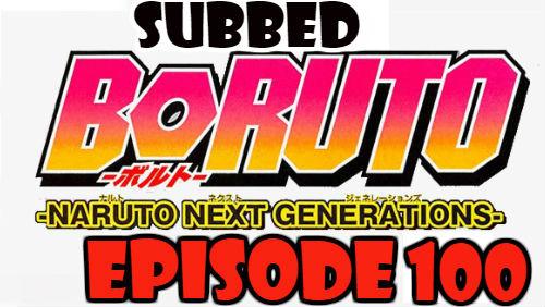 Boruto Episode 100 Subbed English Free Online
