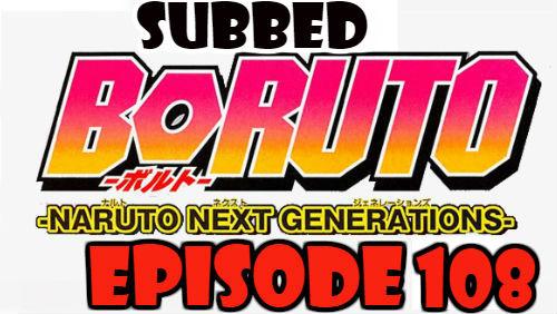 Boruto Episode 108 Subbed English Free Online