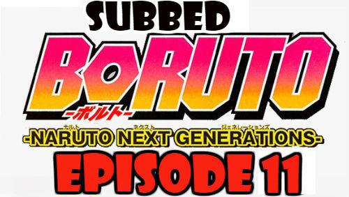 Boruto Episode 11 Subbed English Free Online