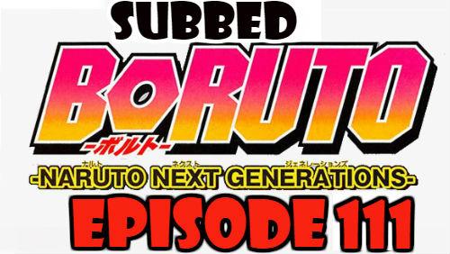 Boruto Episode 111 Subbed English Free Online