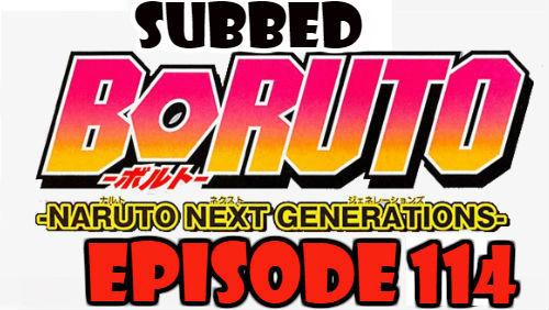 Boruto Episode 114 Subbed English Free Online
