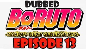 Boruto Episode 13 Dubbed English Free Online