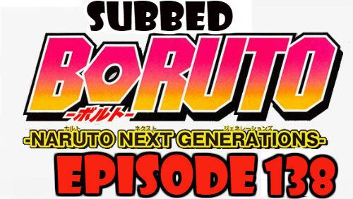 Boruto Episode 138 Subbed English Free Online