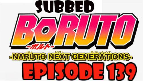 Boruto Episode 139 Subbed English Free Online
