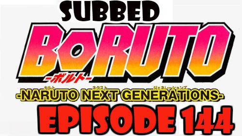 Boruto Episode 144 Subbed English Free Online