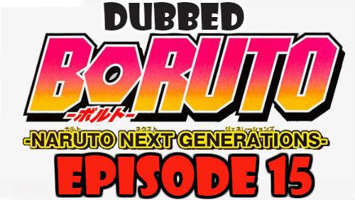 Boruto Episode 15 Dubbed English Free Online