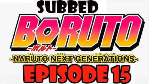 Boruto Episode 15 Subbed English Free Online