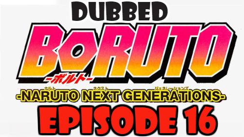 Boruto Episode 16 Dubbed English Free Online