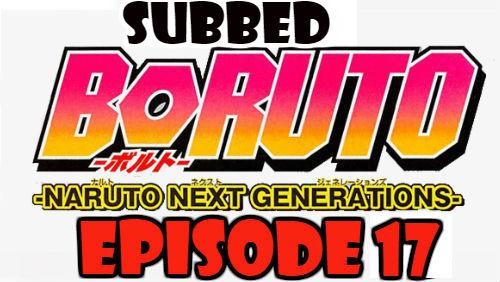 Boruto Episode 17 Subbed English Free Online