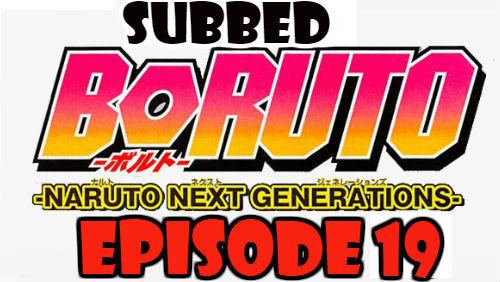 Boruto Episode 19 Subbed English Free Online