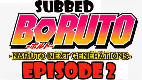Boruto Episode 2 Subbed English Free Online