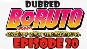 Boruto Episode 20 Dubbed English Free Online