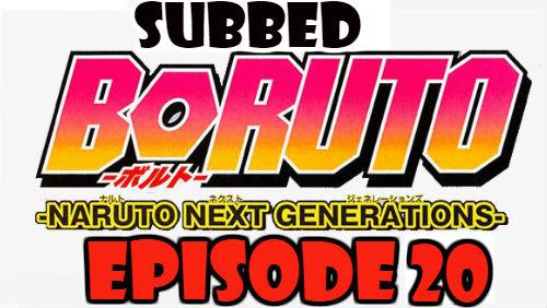 Boruto Episode 20 Subbed English Free Online