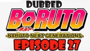 Boruto Episode 27 Dubbed English Free Online