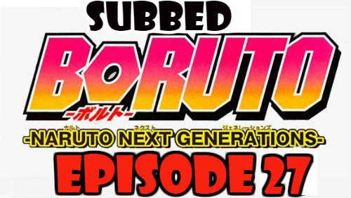 Boruto Episode 27 Subbed English Free Online