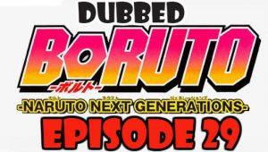 Boruto Episode 29 Dubbed English Free Online