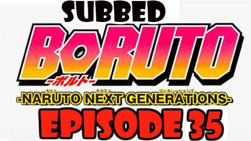 Boruto Episode 35 Subbed English Free Online