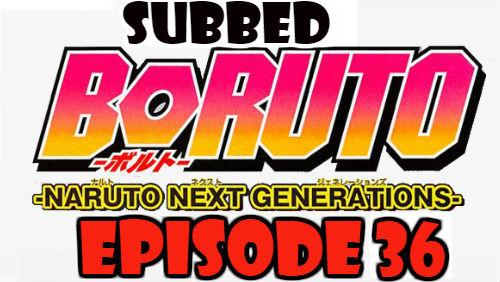 Boruto Episode 36 Subbed English Free Online