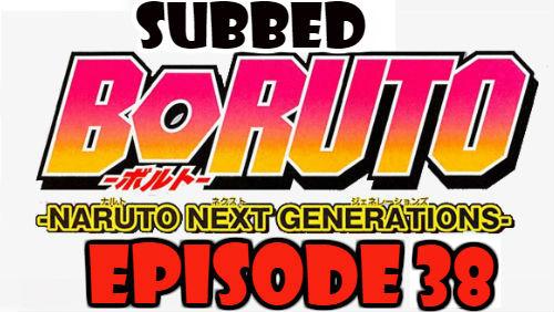 Boruto Episode 38 Subbed English Free Online
