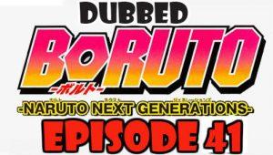 Boruto Episode 41 Dubbed English Free Online