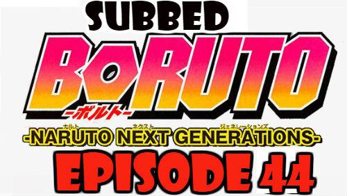 Boruto Episode 44 Subbed English Free Online