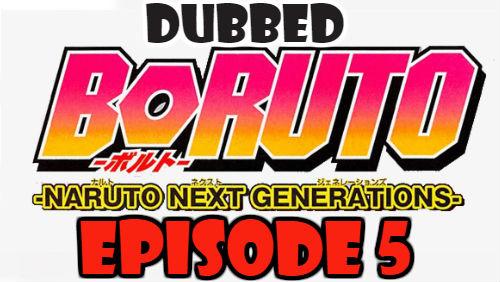 Boruto Episode 5 Dubbed English Free Online