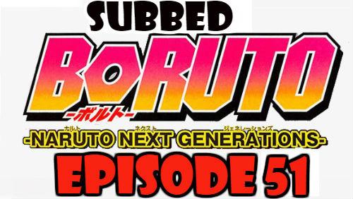 Boruto Episode 51 Subbed English Free Online