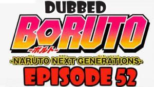 Boruto Episode 52 Dubbed English Free Online