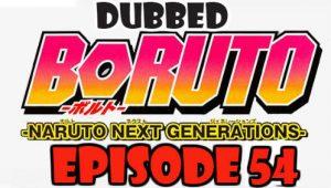 Boruto Episode 54 Dubbed English Free Online
