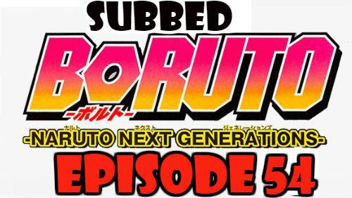 Boruto Episode 54 Subbed English Free Online
