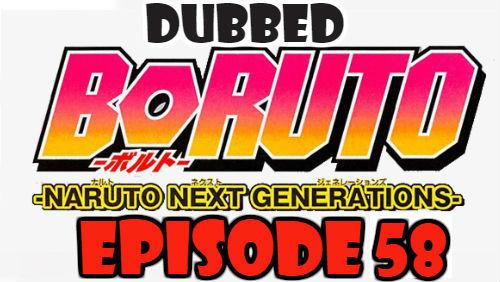 Boruto Episode 58 Dubbed English Free Online