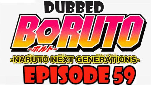 Boruto Episode 59 Dubbed English Free Online
