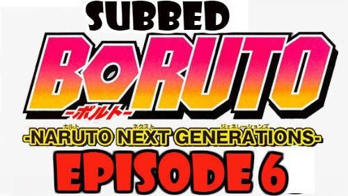 Boruto Episode 6 Subbed English Free Online