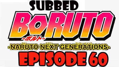 Boruto Episode 60 Subbed English Free Online