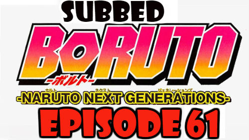 Boruto Episode 61 Subbed English Free Online