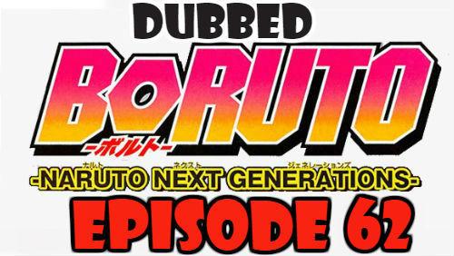 Boruto Episode 62 Dubbed English Free Online