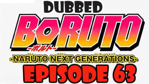 Boruto Episode 63 Dubbed English Free Online