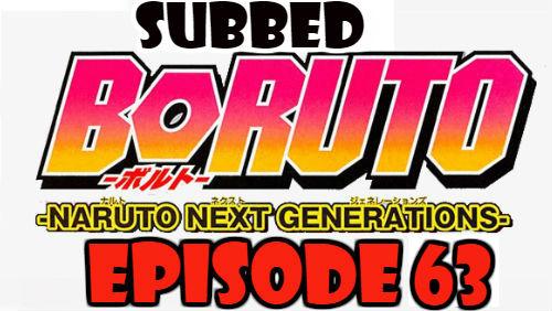 Boruto Episode 63 Subbed English Free Online