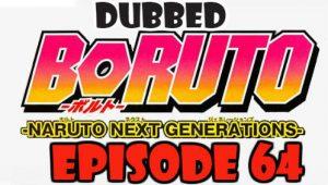 Boruto Episode 64 Dubbed English Free Online