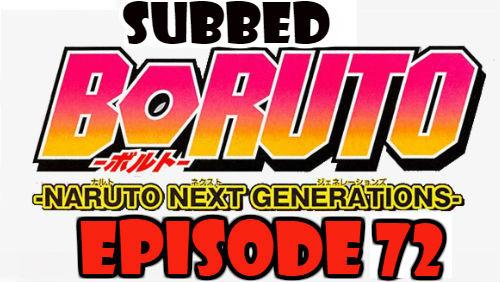 Boruto Episode 72 Subbed English Free Online