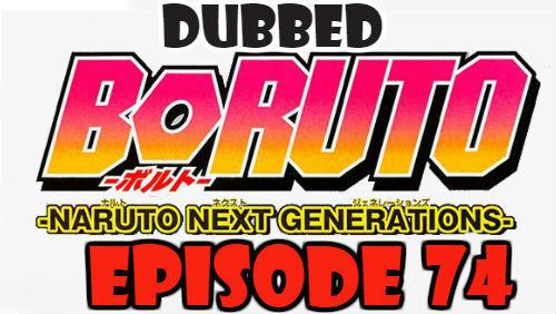 Boruto Episode 74 Dubbed English Free Online
