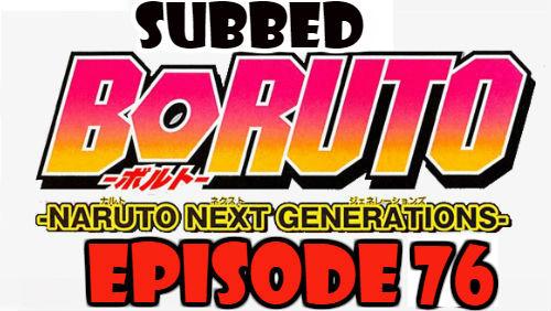 Boruto Episode 76 Subbed English Free Online