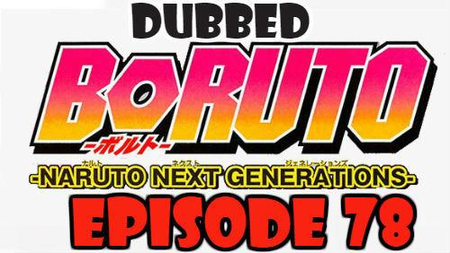 Boruto Episode 78 Dubbed English Free Online