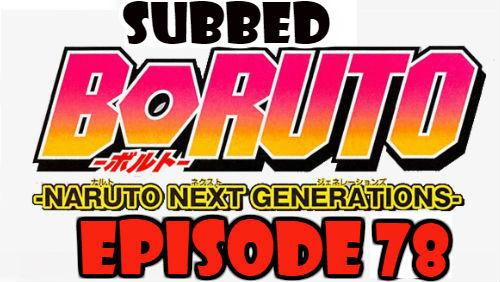 Boruto Episode 78 Subbed English Free Online