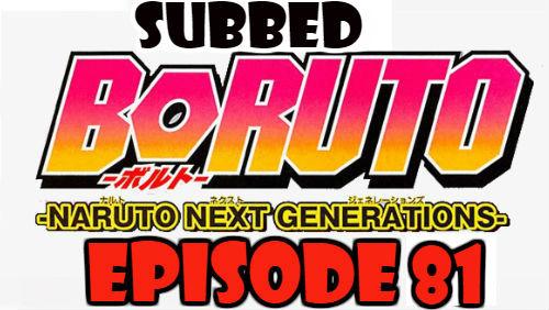 Boruto Episode 81 Subbed English Free Online