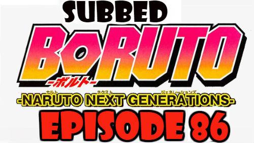 Boruto Episode 86 Subbed English Free Online