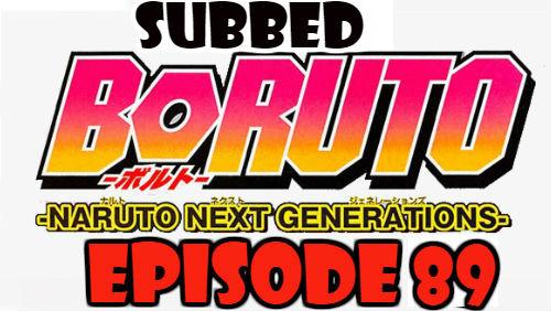 Boruto Episode 89 Subbed English Free Online
