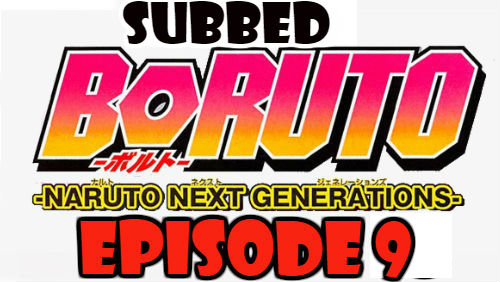 Boruto Episode 9 Subbed English Free Online