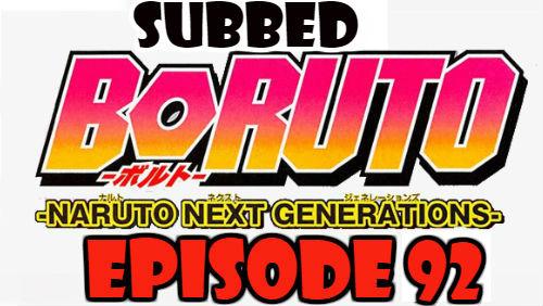 Boruto Episode 92 Subbed English Free Online
